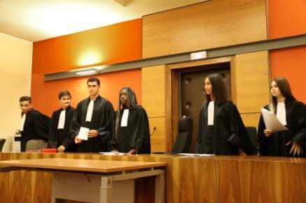 Un tribunal dans une composition inédite avec les élèves de 4ème